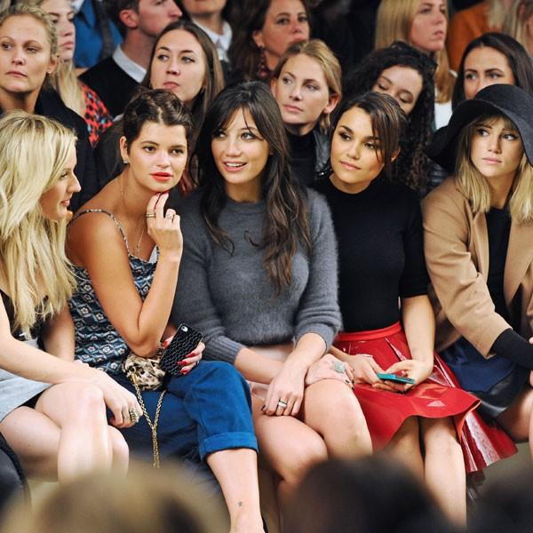 Pixie Geldof, Daisy Lowe and Ellie Goulding watch Topshop Unique SS14