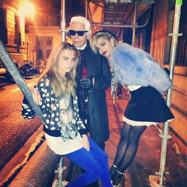 Cara Delevingne joins Karl Lagerfeld and Rita Ora on secret Chanel shoot in Paris