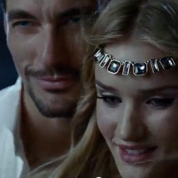 David Gandy and Rosie Huntington Whiteley in The Marks and Spencer Christmas advert