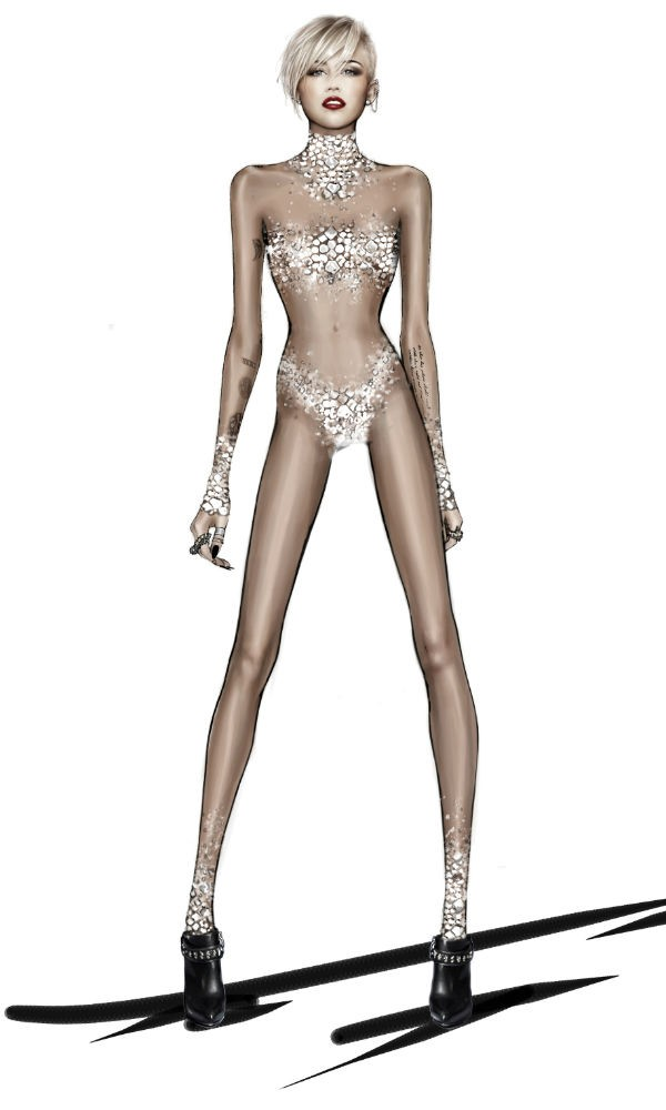 Roberto Cavalli designs Miley Cyrus tour wardrobe