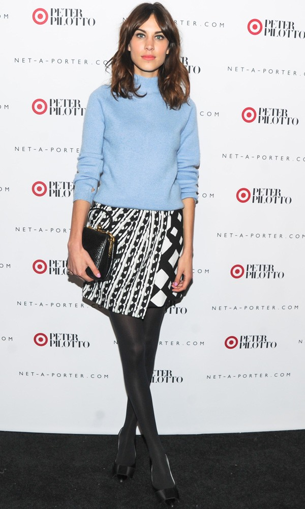 Alexa Chung in Peter Pilotto for Target