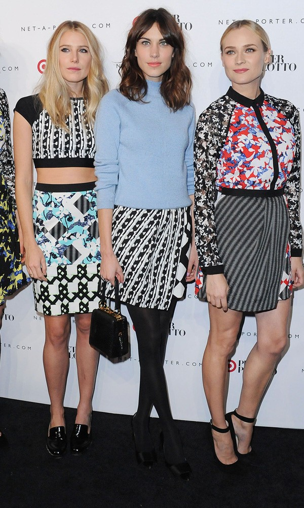 Alexa Chung and Diane Kruger in Peter Pilotto