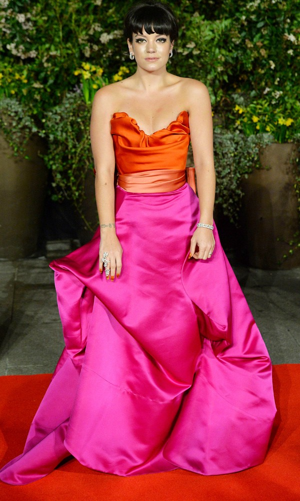 Lily Allen in Vivienne Westwood at the Baftas