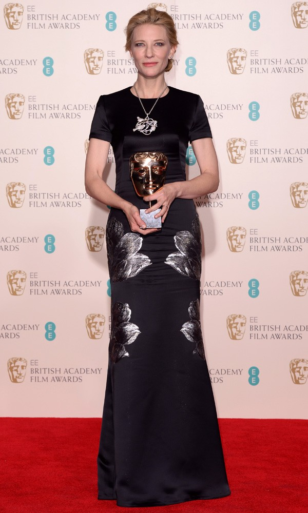 Cate Blanchett in Alexander McQueen at the Baftas