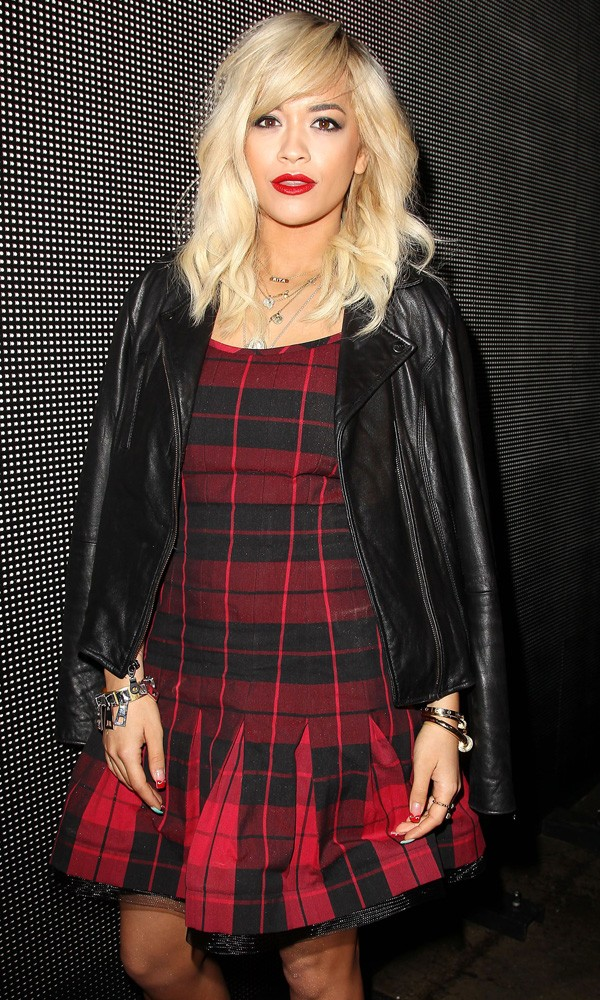 Rita Ora at the DKNY show