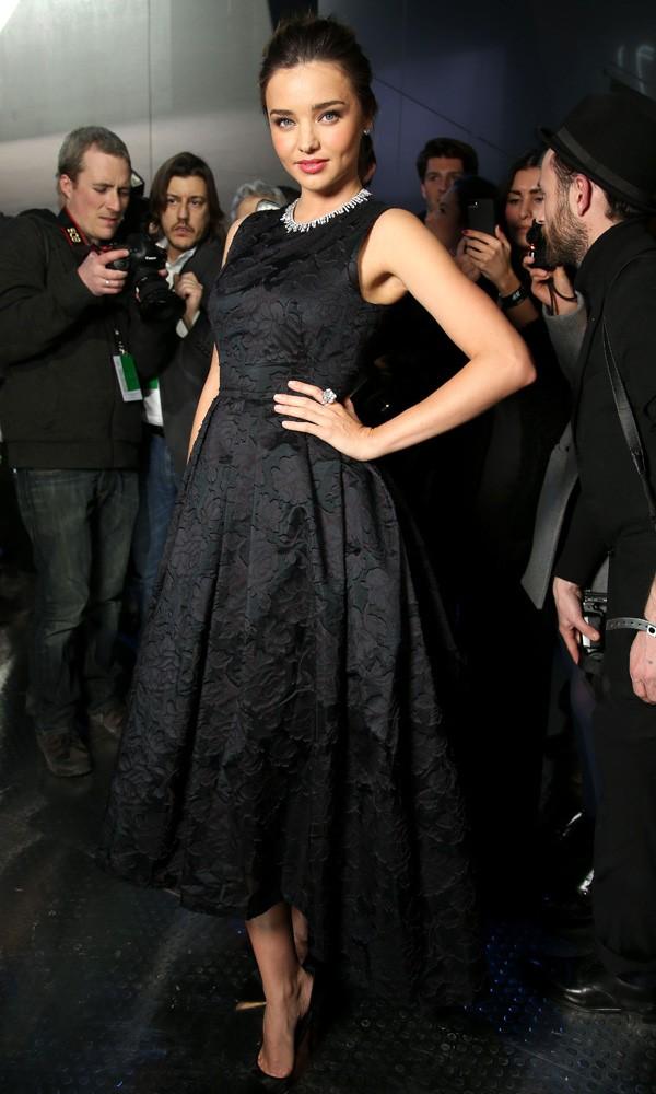 Miranda Kerr at the H&M Paris Fashion Week show