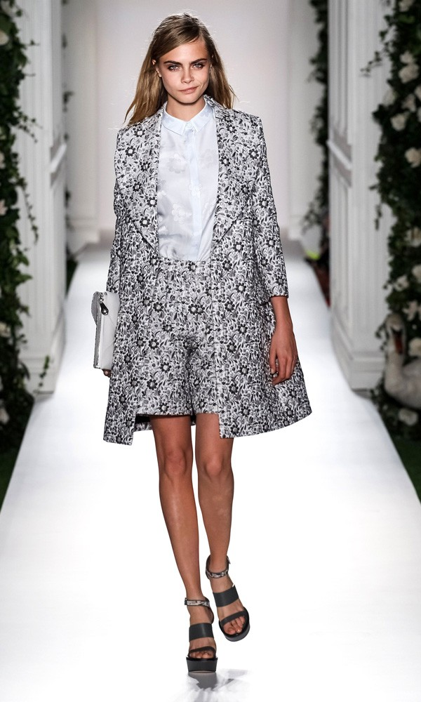 Cara Delevingne on the Mulberry catwalk