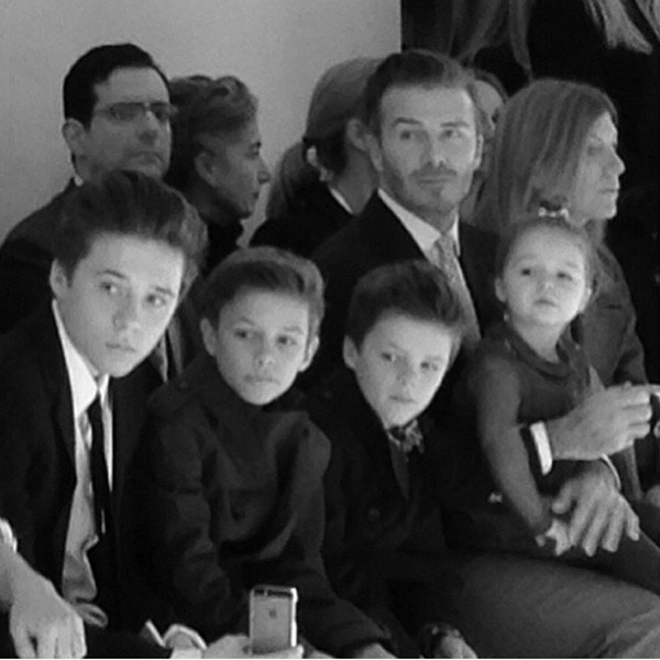 David Beckham with his children