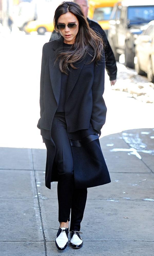 Victoria Beckham wearing flats in New York